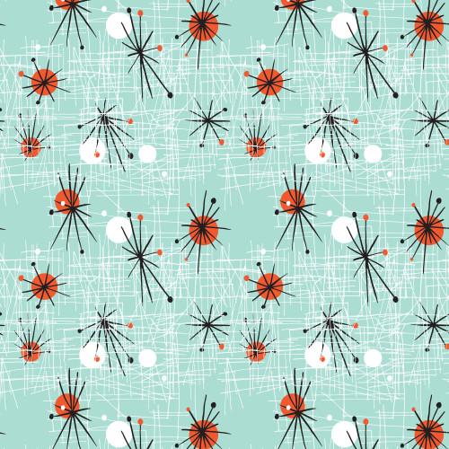 Atomic Starburst Wrapping Sheet, 20x29