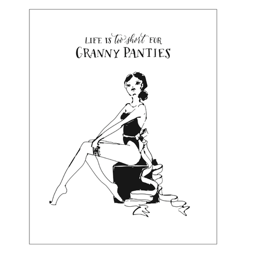 Granny Panties Art Print