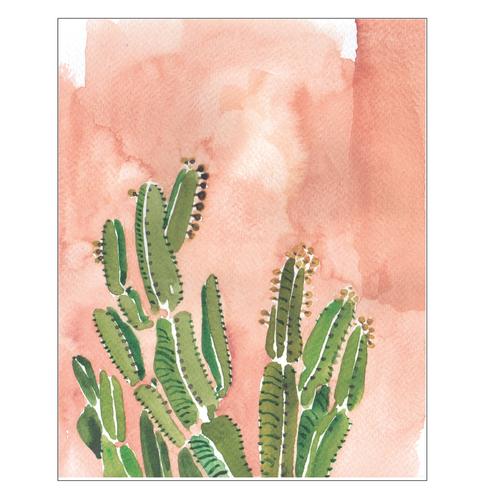 Coral Cactus Art Print