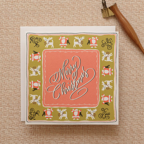 Handkerchief Merry Christmas Greeting Card