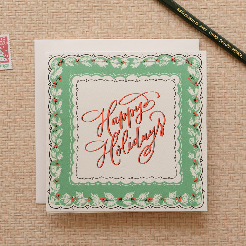 Handkerchief Happy Holidays Greeting Card