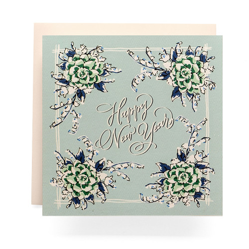 Handkerchief Happy New Year Greeting Card