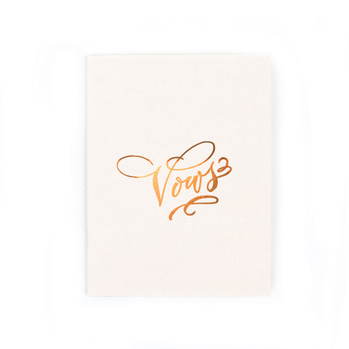 """Vows"" Gold Foil Notebook, Pearl"