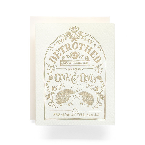 Betrothed Crest Greeting Card