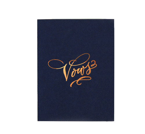 """Vows"" Gold Foil Notebook, Navy"