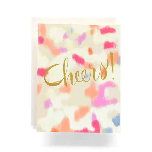 Abstract Cheers! Greeting Card