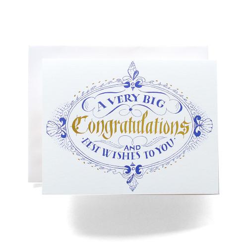 Congratulations Crest Greeting Card
