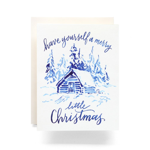 Indigo Little Christmas Greeting Card