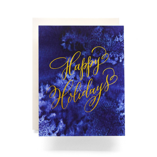 Indigo Happy Holidays Greeting Card