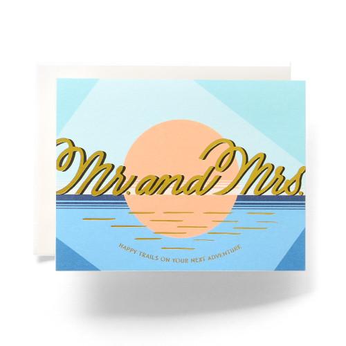 Modern Mr. & Mrs. Greeting Card