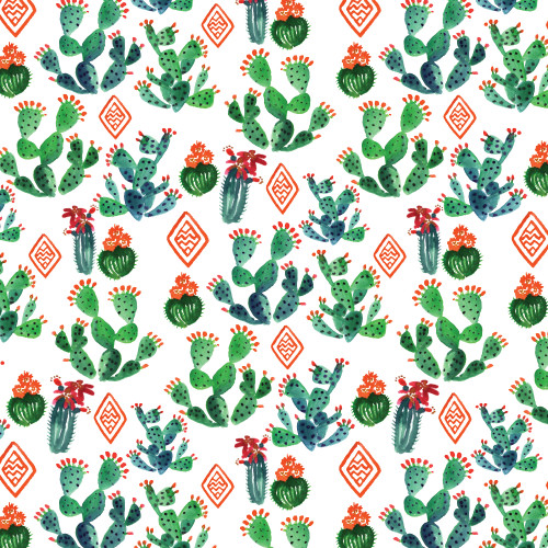 Merry Cactus Wrapping Sheet, 20x29