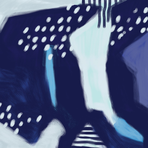 Abstract Indigo Wrapping Sheet, 20x29