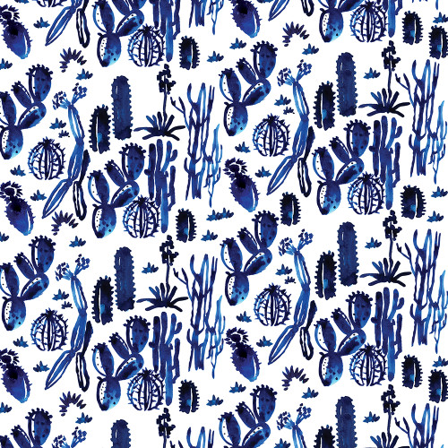 Indigo Cactus Wrapping Sheet, 20x29
