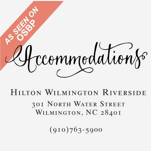 """""""Vintage Calligraphy"""" Accommodations Stamp"""