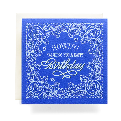 "Bandana ""Howdy Birthday"" Greeting Card"