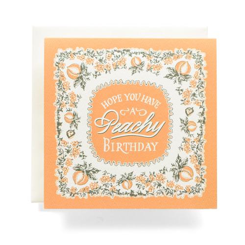 "Bandana ""Peachy Birthday"" Greeting Card"