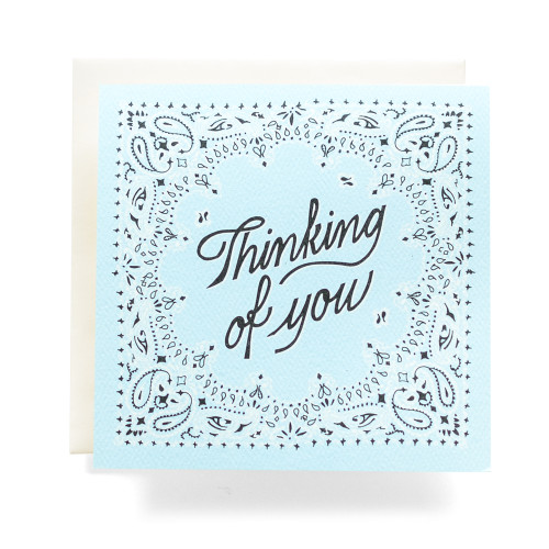 "Bandana ""Thinking of You"" Greeting Card"