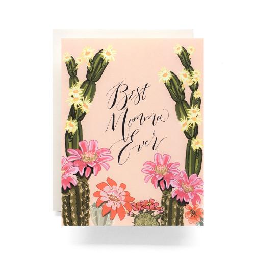 Cactus Bloom Mom Greeting Card