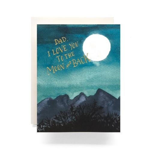 Dad Moon Greeting Card