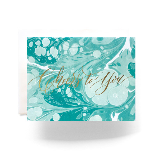 Marble Cheers to You Greeting Card