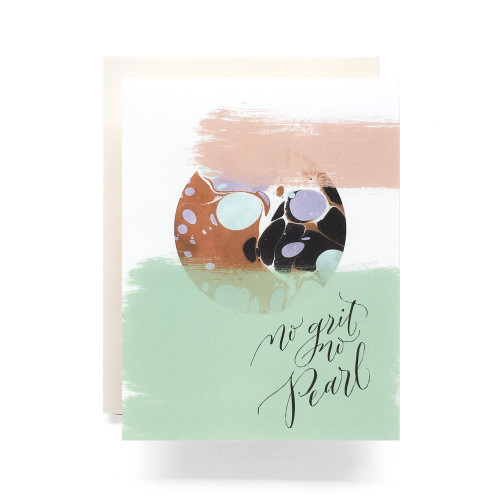 Marble No Grit No Pearl Greeting Card