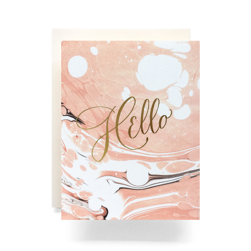 Marble Hello Greeting Card