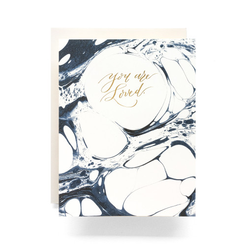 Marble You Are Loved Greeting Card