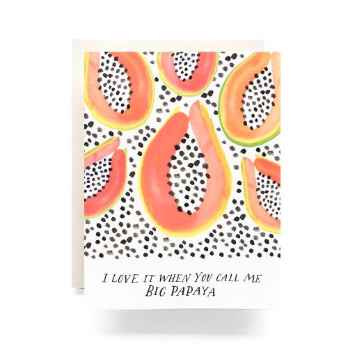 Big Papaya Greeting Card