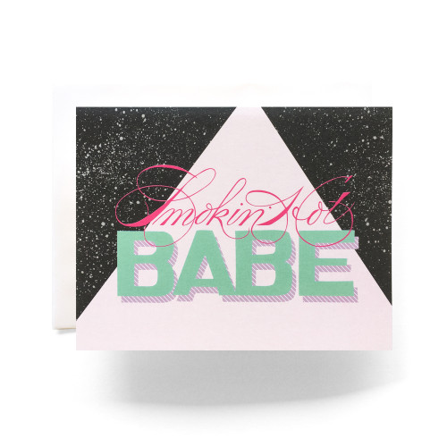 Smokin' Hot Babe Greeting Card
