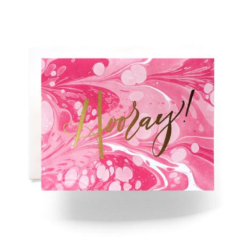 Marble Hooray Greeting Card