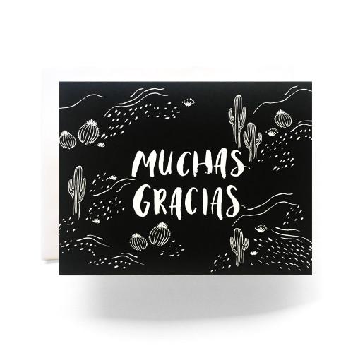 Cactus Muchas Gracias Greeting Card