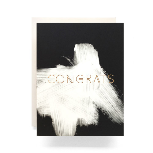 Brushed Congrats Greeting Card