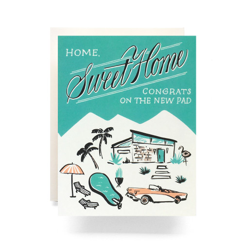 Mid Century Housewarming Greeting Card