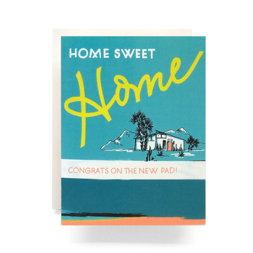 Retro Home Greeting Card