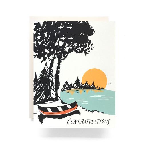 Sunset Congratulations Greeting Card
