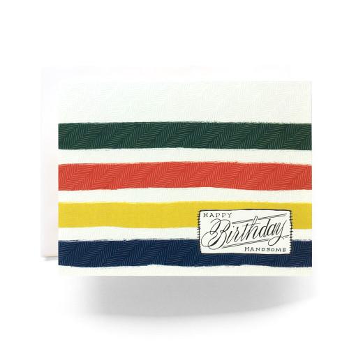 Camp Blanket Birthday Handsome Greeting Card
