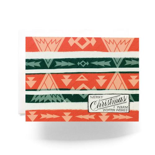 Camp Blanket Christmas Greeting Card