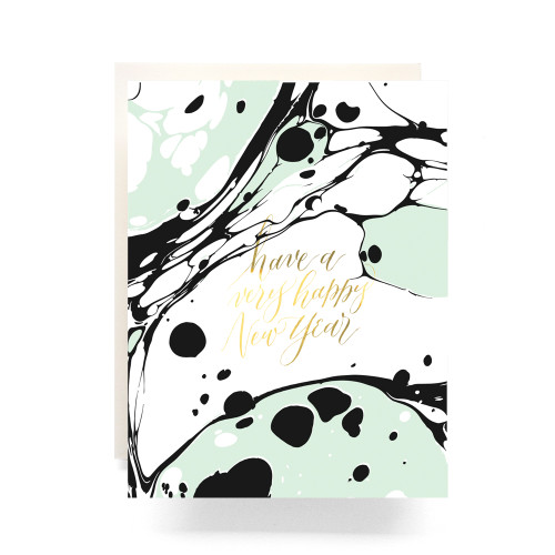 Marble New Year Greeting Card