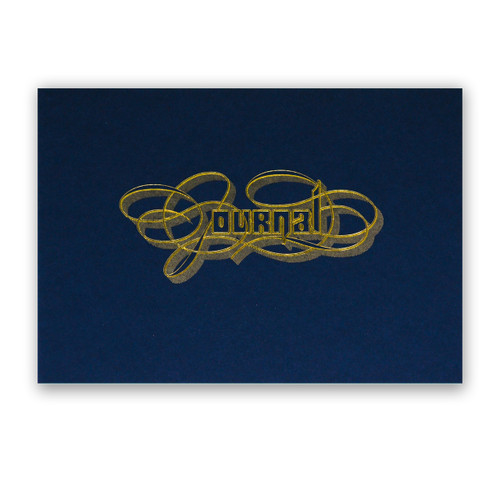 Gold Foil Calligraphy Practice Journal, Navy