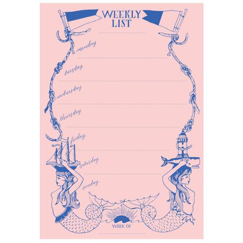 Mermaid Weekly List Pad