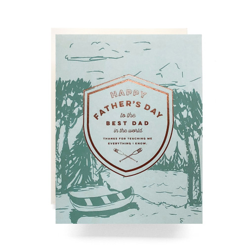 Crest Canoe Father's Day Greeting Card