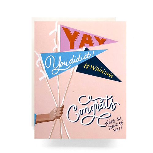Pennant Congrats Greeting Card