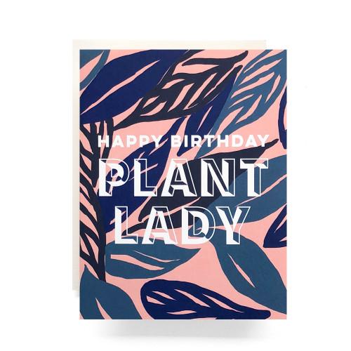 Plant Lady Birthday Greeting Card