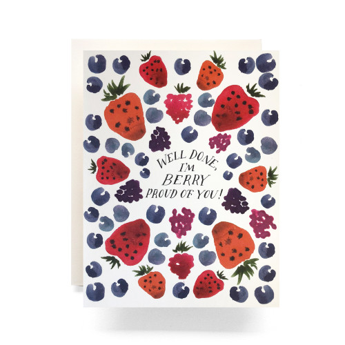 Berry Proud Greeting Card