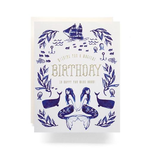 Mermaid Birthday Greeting Card