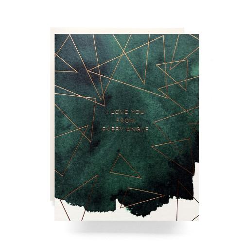 Angled Love Greeting Card