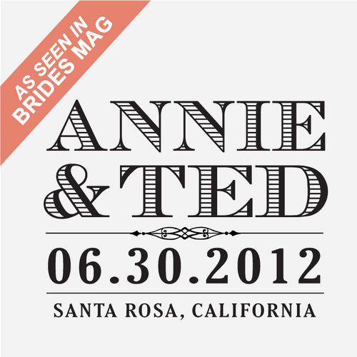 """Vintage West"" Wedding Date Stamp"