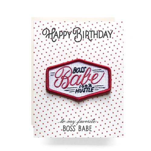Patch Greeting Card | Boss Babe Birthday