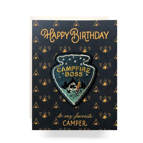 Patch Greeting Card | Campfire Boss Birthday