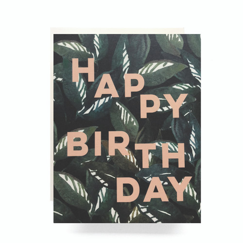 Emerald Forest Birthday Greeting Card
